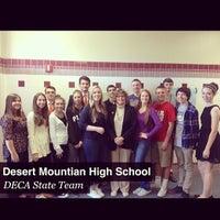 Photo taken at Desert Mountain High School by Jordan Ashley H. on 2/27/2014