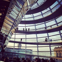 Photo taken at Reichstag Dome by maurizio c. on 10/31/2012