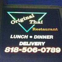 Photo taken at Original Thai Restaurant by Doug B. on 10/24/2012
