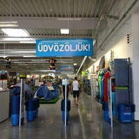 Photo taken at Decathlon Szombathely by Vézna® on 7/14/2013