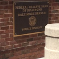 Photo taken at Federal Reserve Bank of Richmond-Baltimore Branch by Craig K. on 4/10/2016