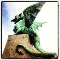 Photo taken at Zmajski most / Dragon Bridge by geheimtip ʞ. on 9/28/2012