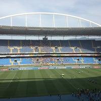 Photo taken at Olympic Stadium (Engenhão) by Carlos V. on 2/9/2013