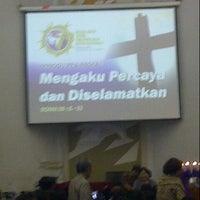 Photo taken at GKI Kebayoran Baru by Adeck T. on 2/17/2013