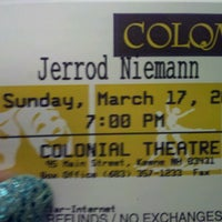 Photo taken at The Colonial Theatre by Trisha O. on 3/17/2013