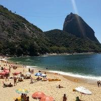 Photo taken at Praia Vermelha by Fagner M. on 10/7/2012