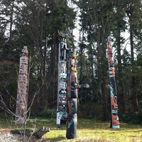 Photo taken at Totem Poles in Stanley Park by Ben B. on 3/12/2013