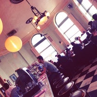 Photo taken at Cafe Gitane at The Jane Hotel by Red P. on 2/25/2013