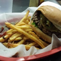 Photo taken at HideOut Burgers by Alex F. on 1/3/2014