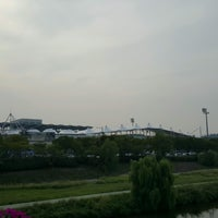 Photo taken at Tancheon Sports Complex Stadium by ByungMuk L. on 9/10/2016