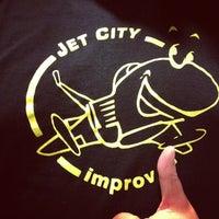 Photo taken at Jet City Improv by Jon A. on 10/14/2012