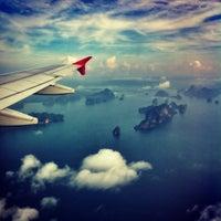 Photo taken at Phuket International Airport (HKT) by Vee C. on 4/18/2013