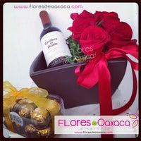 Photo taken at Florería Flores de Oaxaca by Flores D. on 1/29/2014