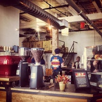 Photo taken at Brooklyn Roasting Company by Simon W. on 10/10/2012