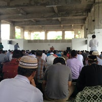 Photo taken at Islamic Center Bekasi by Finan A. on 4/22/2016