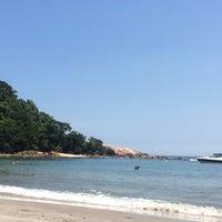 Photo taken at Praia das Conchas by Gina Paula Correa A. on 1/8/2015