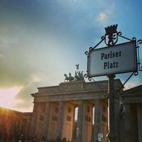 Photo taken at Pariser Platz by Dean B. on 1/13/2013