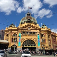 Photo taken at Flinders Street Station by Beau G. on 3/1/2013