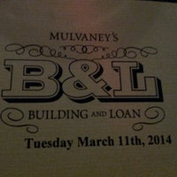 Photo taken at Mulvaney's Building & Loan by Stephanie B. on 3/12/2014