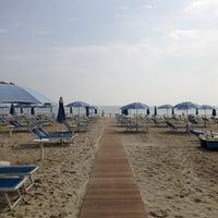Photo taken at Attilio Beach Pleasure Club by Pier Luca S. on 5/4/2013