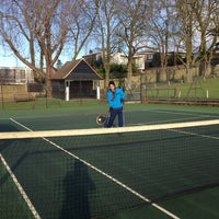 Photo taken at Golders Hill Tennis Courts by Gabriela A. on 1/18/2015