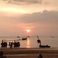 Photo taken at Railay Beach West by takakoji on 10/21/2014