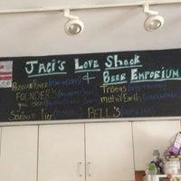 Photo taken at Jaci's Love Shack & Beer Emporium by Adriana V. on 4/13/2013