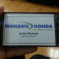 Photo taken at Mohawk Honda by Rachael P. on 11/10/2012