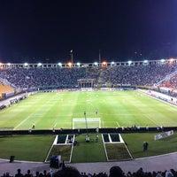 Photo taken at Estádio Municipal Paulo Machado de Carvalho (Pacaembu) by Camila T. on 6/2/2013