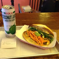 Photo taken at Num Pang Sandwich Shop by Paulie G. on 4/26/2013
