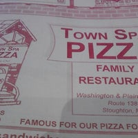 Photo taken at Town Spa Pizza by Mic E. on 5/16/2013