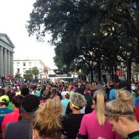 Photo taken at Rock n Roll Savannah Marathon Start by Kathlene H. on 11/9/2013