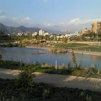 Photo taken at Parque Bicentenario by Sebastian Rodrigo G. on 1/28/2013