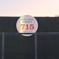 Photo taken at Hank Aaron 715 Home Run Marker by Melinda on 6/11/2016