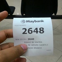 Photo taken at Maybank by Amir F. on 1/22/2016
