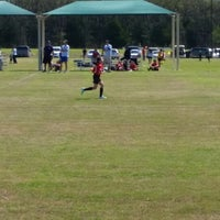 Photo taken at Corinth Soccer Fields by Erica M. on 3/28/2015