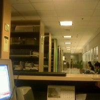 Photo taken at Library BINUS University by Mc M. on 12/19/2012