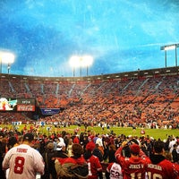 Photo taken at Candlestick Park by Megan W. on 11/20/2012