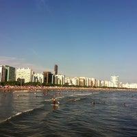 Photo taken at Praia do José Menino by Carolina T. on 11/20/2012