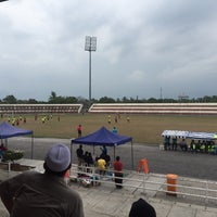 Photo taken at Stadium Sungai Besar by Zulhusni Z. on 5/12/2016