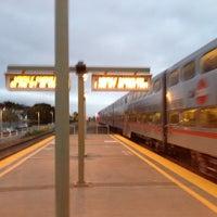Photo taken at San Carlos Caltrain Station by Reyn J. on 10/4/2012