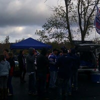 Photo taken at Lot 5 Ralph Wilson Stadium by phil c. on 10/21/2012