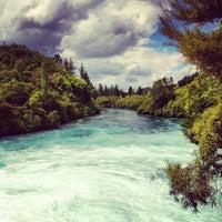 Photo taken at Huka Falls by Leon C. on 12/21/2012