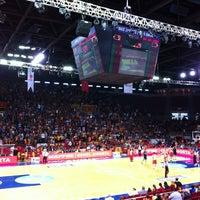 Photo taken at Abdi İpekçi Arena by Umur U. on 10/20/2013