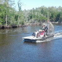 Photo taken at Jungle Erv's Airboat Tours by Ryan F. on 3/7/2013