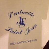 Photo taken at L'Entrecôte Saint-Jean by Joseph H. on 10/13/2012