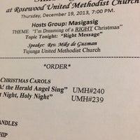 Photo taken at Rosewood United Methodist Church by Edz R. on 12/20/2013