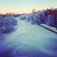 Photo taken at Sankt Eriksbron by Gustav V. on 1/19/2013