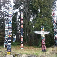 Photo taken at Totem Poles in Stanley Park by Sharon W. on 2/16/2013
