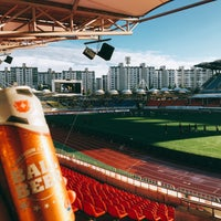 Photo taken at Tancheon Sports Complex Stadium by YJ on 9/17/2016